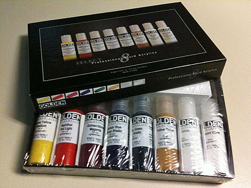 Golden paints