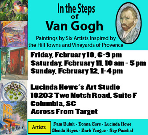 In the Steps of Van Gogh Invitation