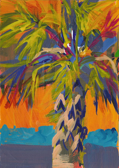 Palms lucinda howe for Painting palm trees