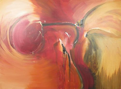 "Incendiary 30x40"" Acrylic on gallery wrap canvas ©2012 Lucinda Howe"