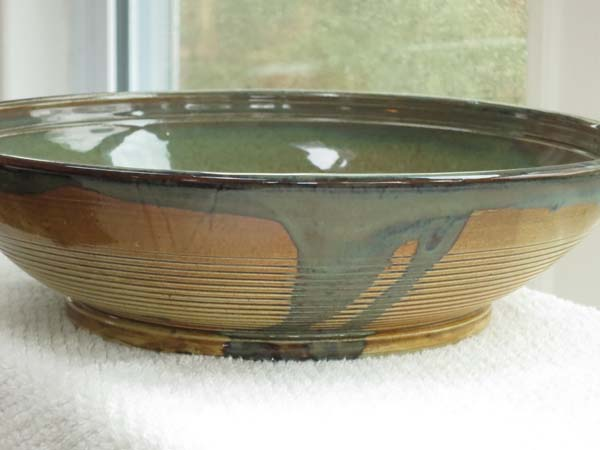 Food-safe serving bowl Pottery by John and Venetia Sharpe Cayce, South Carolina