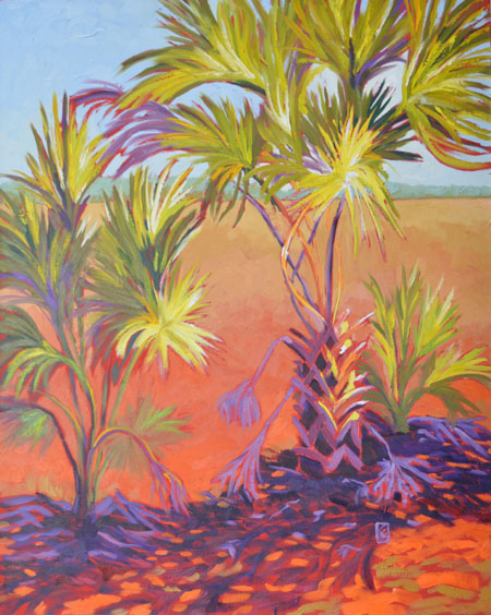 """Bugville Afternoon 30x24"""" Oil on gallery wrap canvas ©2014 Lucinda Howe"""