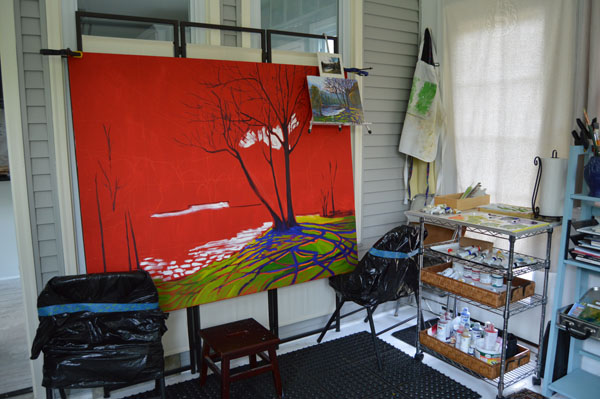 Painting Large in a Small Space   Lucinda Howe
