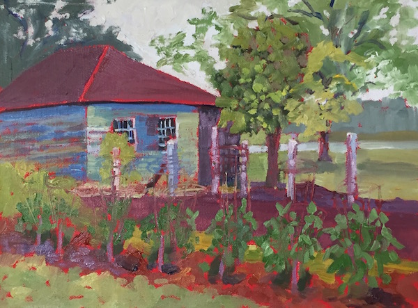 McNair Farm 9x12 inches Oil on panel ©2016 Lucinda Howe $295