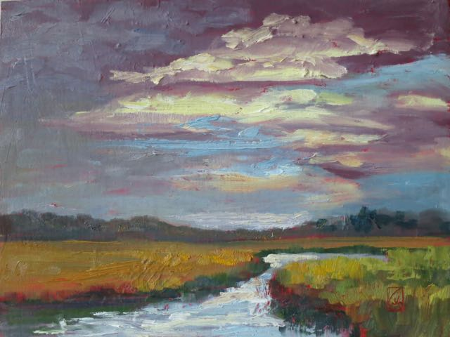Stormy Morning 9x12 inches Oil on Raymar panel ©2016 Lucinda Howe $295