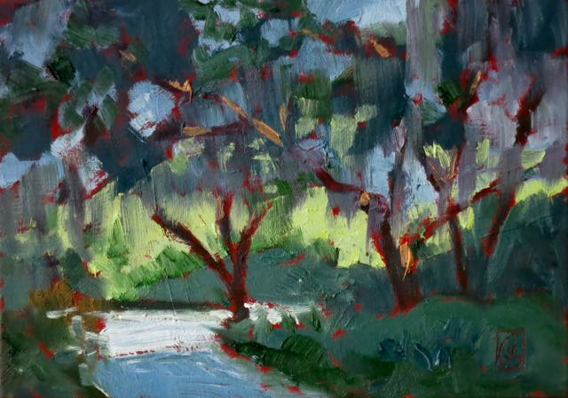 James Island Path 5x7 inches Oil on oil primed linen panel ©2016 Lucinda Howe