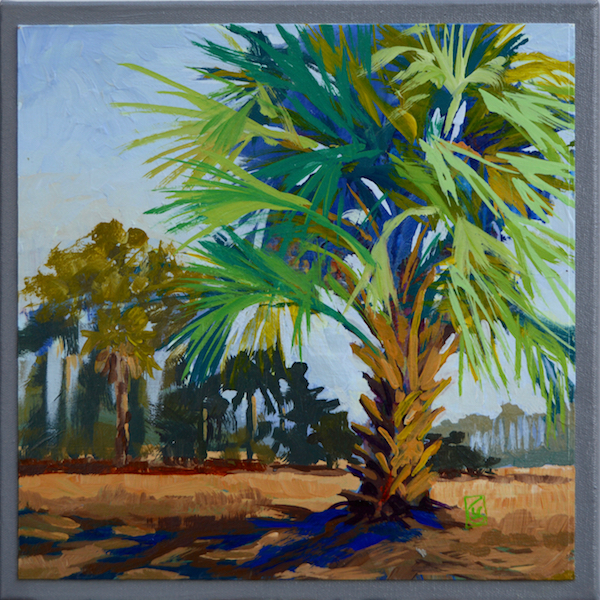 Blue Palmetto 12x12 inches Acrylic on paper mounted on canvas Regular price $395 Special $275 - Offer ends 12/2/2016