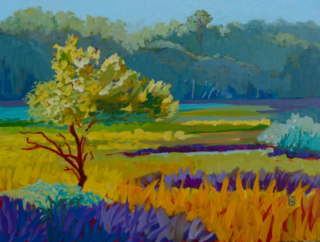 Saltmarsh Solitude 18x24 inches Acrylic on masonite ©2016 Lucinda Howe $1,100