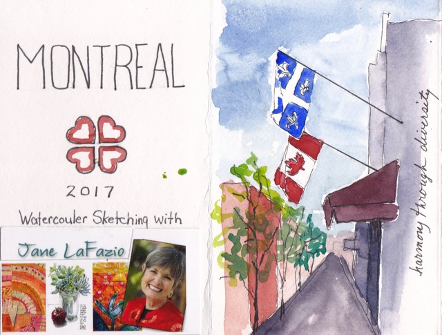 Montreal & Quebec Journal Pages 1 & 2 ©2017 Lucinda Howe NFS