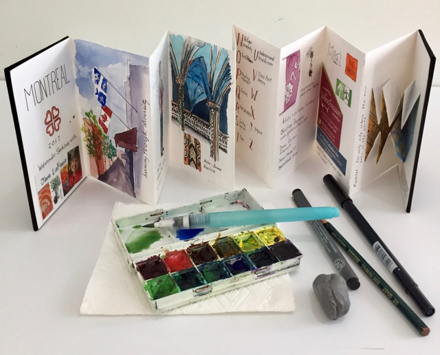 Small Watercolor Kit @2017 Lucinda Howe