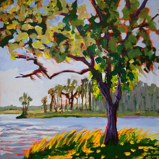 Mansfield Plantation #1 12x12 inches Acrylic on gallery wrap canvas ©2017 Lucinda Howe $395