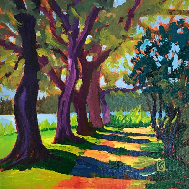 Mansfield Plantation #3 12x12 inches Acrylic on gallery wrap canvas ©2017 Lucinda Howe $395